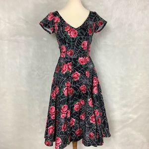 Vixen Vanity Fair in Roses & Spiderwebs Dress